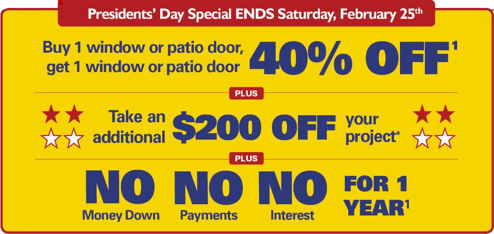 renewal by andersen colorado spring presidents day sale